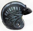 Viper Slim Fit Low Profile Open Face Motorcycle Helmet Route 66 RS05 FREE GOGGLE