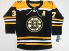 NWT Patrice Bergeron 37 Boston Bruins Authentic Jersey Black