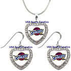 Cleveland Cavaliers 925 Necklace / Earrings or Set Team Heart With Rhinestones on eBay