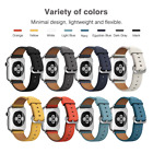 Genuine Leather Wrist Bracelet Clasp Strap Band For Apple Watch 38mm 42mm 3/2/1