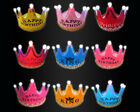 birthday party accessories for adults - Princess Crown Birthday Party LED Light up Hats Cap Tiara for Adult Kids Unisex