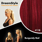 UK Real Thick Clip In As Human Hair Extensions Pony Tail Wrap