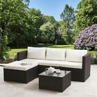 Rattan Corner Sofa Garden Furniture Sets In Grey Black And Brown