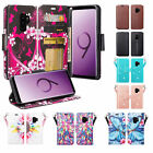 Samsung Galaxy S9 Case, Faux Leather Magnetic Fold Stand Wallet Cover w/ Slots