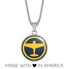 KI-43 Vintage World War II Air Force Military Fighter Airplane Pendant Necklace
