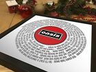 Oasis Don't Look Back In Anger | 12 inch Single Vinyl LP Size Poster | Fan Gift