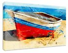 ABSTRACT ART BOAT SEA SHIP CANVAS-POSTER GALLERY-WRAP ART ROOM DECOR STRETCHED