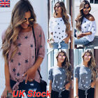 Womens Summer Star Short Sleeve Casual T Shirt Tops Blouse Ladies Loose Tee 6-22