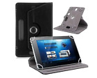"Black 360 Folio Leather Case Cover For Universal Android Tablet PC 7"" 8"" 9"" 10"""
