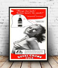 Royal Crown cola : Vintage advertising , poster, Wall art, reproduction.