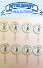 PETER RABBIT BABY SHOWER GLITTER birthday party Card party Cake Toppers cupcake