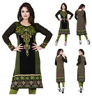 UK STOCK - Women Printed Indian Long Sleeves Tunic Tank Top Kameez Dress 113C