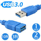 USB 3.0 Extension Extender Cable Cord M/F Standard Type A Male to Female 3 10 Ft