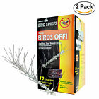 Bird-X STS-10-R Stainless Bird Spikes Kit, Covers 10 feet (Set of 2)