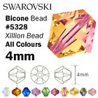 SWAROVSKI Crystal Bicone Xilion Beads 5328 - 4mm - All colours - Small Packs