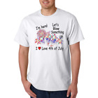4th Fourth Of July Fireworks Here Blow Something Up Gildan Cotton White T-shirt