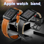 38mm 42mm Strap Band Genuine Leather Apple Watch Series 3 2 1 Wristband