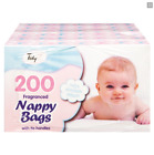 NEW DISPOSABLE BABY FRAGRANCED SCENTED NAPPY BAGS HYGIENIC SACK TIE HANDLE