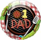 Fathers Day Foil Balloons Gift Best Dad Decorations Love Air Helium Daddy