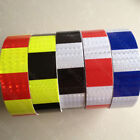 """Square Safety Reflective Self Adhesive Caution Warning Tape Sticker 50mm 2""""Width"""