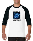 Raglan T-shirt 3/4 Sleeve Long Sports And Then God Said Let There Be Hockey