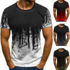UK Men's Gym Summer Slim Fit Casual Short Sleeve Muscle Tee Tops T-shirt Blouse