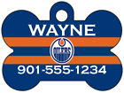 Edmonton Oilers Custom Pet Id Dog Tag Personalized w/ Name & Number $9.87 USD on eBay