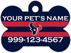 Houston Texans Custom Pet Id Dog Tag Personalized w/ Name & Number $11.67 USD on eBay