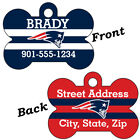 New England Patriots Double Sided Pet Id Dog Tag Personalized w/ Name $11.67 USD on eBay