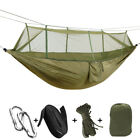 1-2 Person Outdoor Mosquito Net Parachute Hammock Camping Hanging Bed Portable