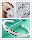 Fashion Jewelry Wholesale Womens 925silver Bangle/bracelet Chain Gifts