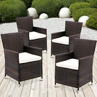 4 X Rattan Garden Furniture Dining Chairs Set Outdoor Patio