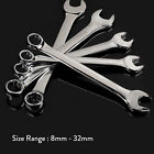 Metric Combination Spanners Open End & Ring Socket Wrench Hand Tools  8mm - 32mm