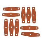 Soft Replacement Leather Slingshot Pouches w Center Hole 50mm Length 5/10/20pk