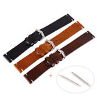 Vintage Genuine Leather Wrist Watch Band Strap+Pin Replacement 18-20-22mm US image