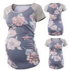 Fashion Womens Maternity Floral Print Tops Pregnancy Clothes Top Blouse Shirt
