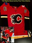 New Adidas 68 Jaromir Jagr Calgary Flames Mens Red Home Fight Strap Jersey