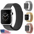 For Apple iWatch Serie 1 2 3 4 38 42 40mm Stainless Steel Band Milanese Strap US image