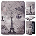For Kindle Paperwhite 1 2 3 Pattern Smart Magnetic Slim Flip Leather Case Cover