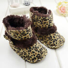 Fashion Warm Lovely Baby Girls Bowknot Leopard Snow Toddler Boots Shoes D984