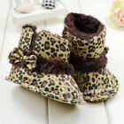 Fashion Warm Lovely Baby Girls Bowknot Leopard Snow Toddler Boots Shoes 7168