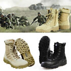 Mens Tactical Leather Military Deployment Boot SWAT Boots Duty Work Shoes US
