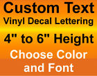 4, 5, or 6 INCH HEIGHT Custom Vinyl DecalsText Lettering Num