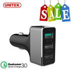 UNITEK Multi Port QC 2.0 / 3.0 USB Car Charger Adapter For Iphone 7 Galaxy Note