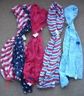 Gauze Scarf Shawl - Red, White, Blue - Patriotic- Your Choice