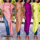 US Summer Holiday Stylish Fashion Long Maxi Dress Ladies Eve