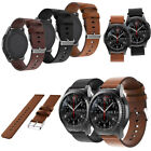 22mm Black Brown Leather Sport Watchband Quick Release Wristwatch Bands Strap