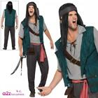 Mens Pirate Deckhand Costume Jack Sparrow Pirates Caribbean Adult Fancy Dress