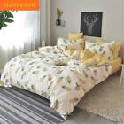 CLOTHKNOW Girls Duvet Cover Twin Size Yellow Flower Botanical Floral Duvet