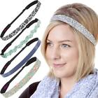 Hipsy Women's Adjustable Cute Fashion & Sports Headbands for Women and Girls